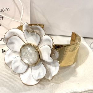 NWT Kate Spade Bright blossom large flower cuff